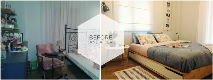Katerina's bedroom: Before-After