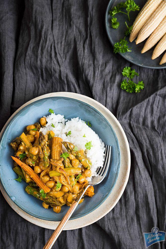 Żółte curry warzywne