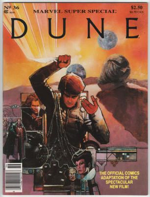 Marvel Comics Super Special #36, 1984, NM+, Dune film adaptation; Bill Sienkiewicz cover and interior artwork, partial film cast and crew credits included. $12.60