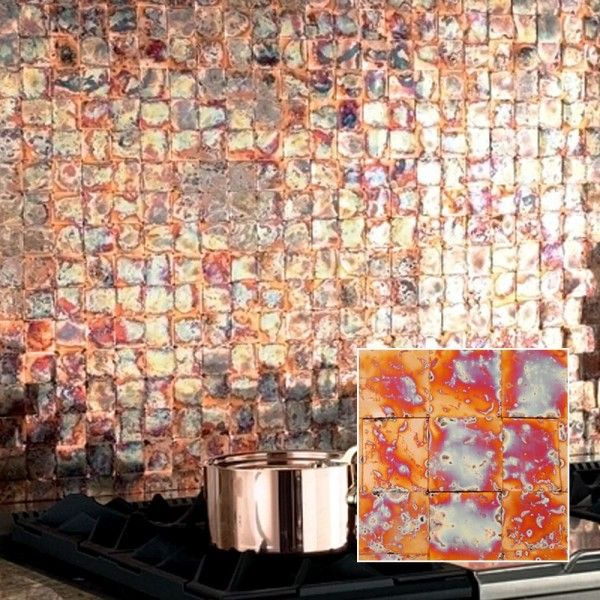 Woven Seared-Patina Copper Splash. http://www.frigodesign