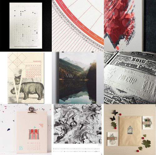 Design and Paper | 2015 Wall Calendar Inspiration | http://www.designandpaper.com