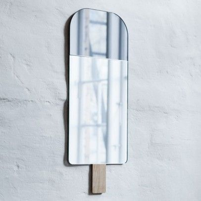 Ice Cream Mirror by Tor & Nicole vitner Servé -22x57cm Grey  EO - Elements Optimal