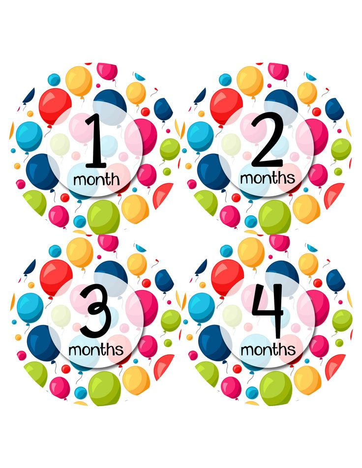 Monthly Baby Sticker Baby Boy | Baby Girl | Baby Month Stickers | Baby Milestone Sticker | 12 Month Stickers | Photo Prop | Balloons 1155 by MonthsinMotion on Etsy