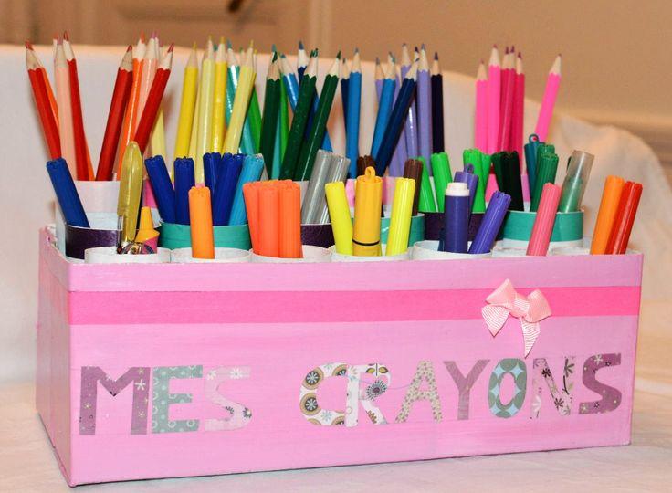diy pot crayons bricolage enfant pinterest. Black Bedroom Furniture Sets. Home Design Ideas