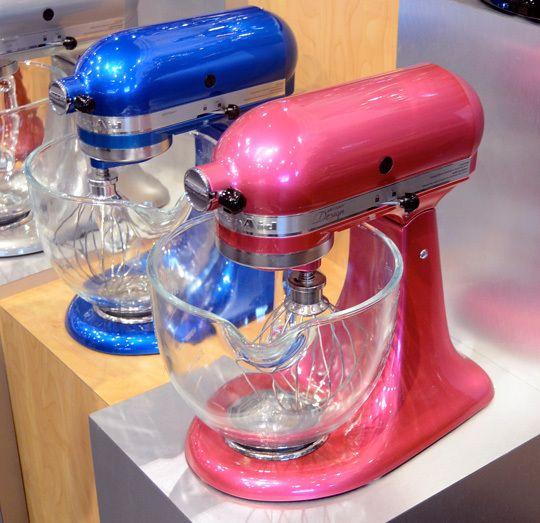 A pink Kitchenaid mixer!