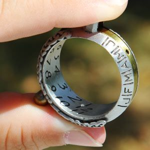 Sundial watch-ring. No power necessary. I'll need this for the inevitable zombie apocalypse.