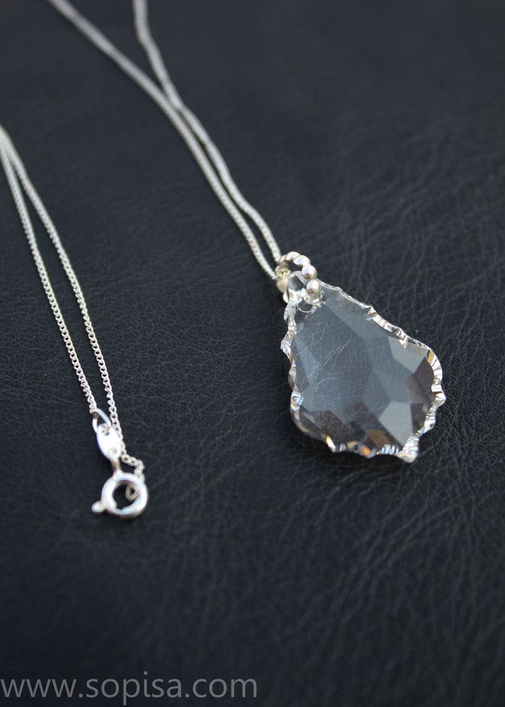 Carmen Necklace. www.sopisa.com #swarovksi #silvernecklace