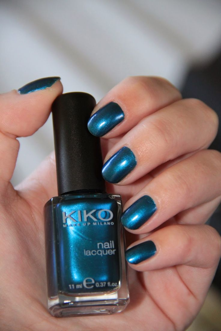 Vernis Kiko, 520 Gentian Blue Metallic, swatch