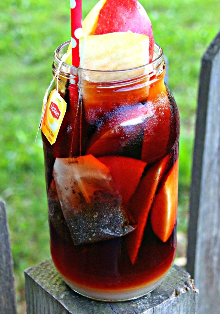 Sun Brewed Apple Whiskey Tea. Brew up magic with this sun brewed tea. Click now!