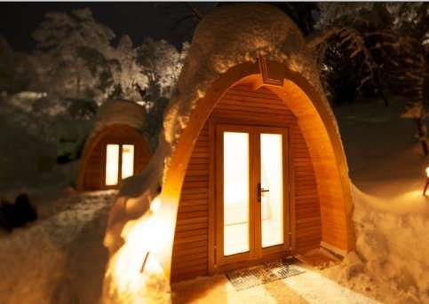Robust Outdoor Brands' POD Houses Make for Eco-Friendly Camping #wooden #architecture trendhunter.com