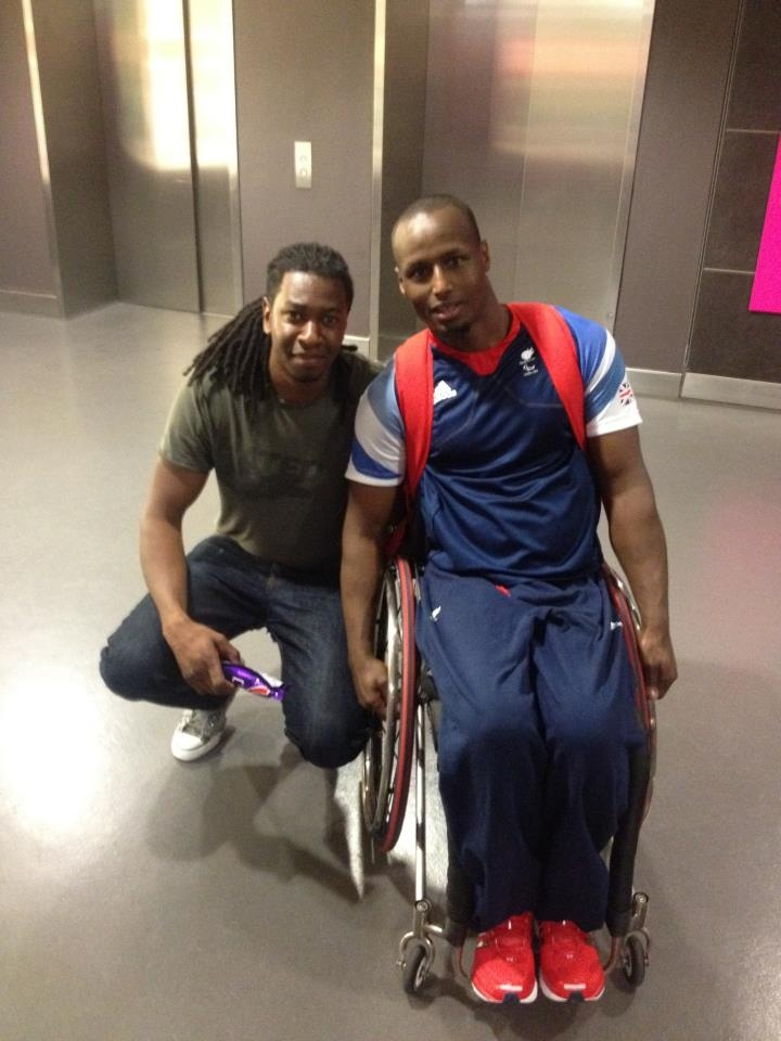 Aston Leach gets a rare opportunity to meet a Team GB Paralympic star in the form of Abdi Jama who is part of the men's wheelchair basketball squad