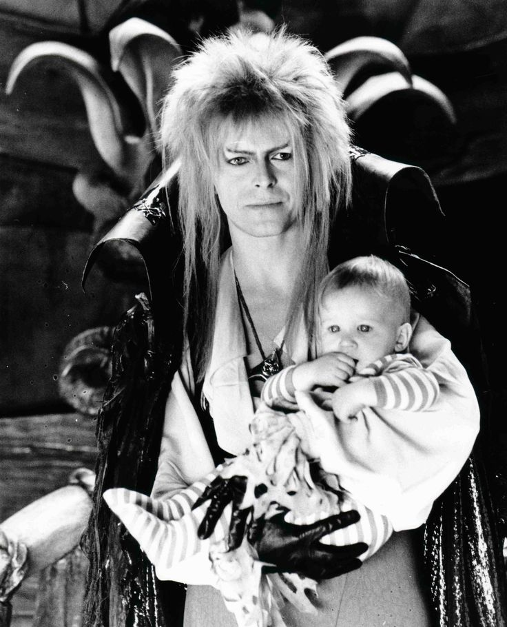 Toby Froud and David Bowie in Labyrinth