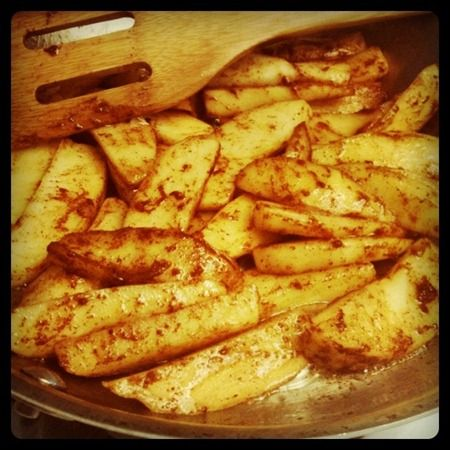 Cinnamon Apples - our son goes CRAZY for these :)