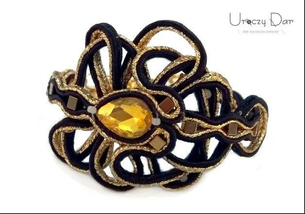 Gold star, elegancka bransoletka z hematytem - Uroczy-Dar - Bransoletki