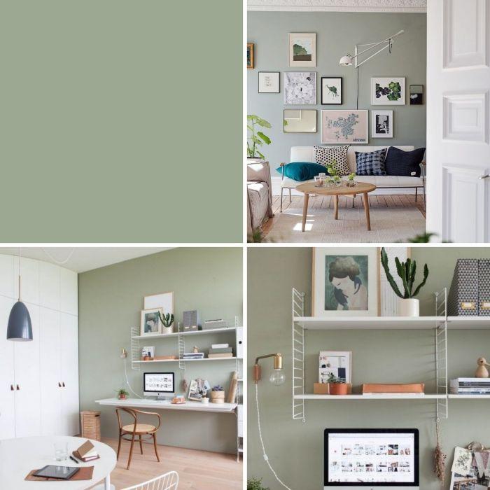 Peinture Vert De Gris Pour Cuisine: 1001 + Idées Comment Intégrer La Peinture Vert De Gris