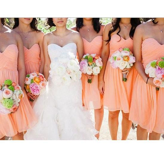 Strapless Sweetheart Neck Short Bridesmaid Dresses,Empire Bridesmaid Dresses,apd1593