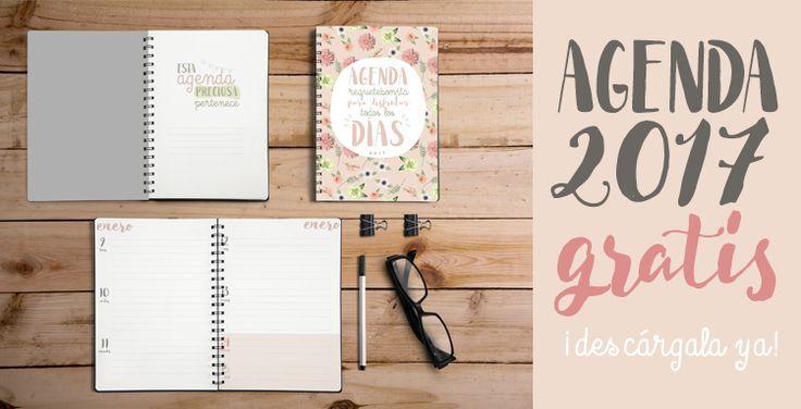 Agenda 2017 descargable, gratis y en español. Para mantenerte organizada y productiva con tu negocio.