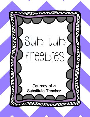 Journey of a Substitute Teacher: Monthly Series: Substitute Preparedness