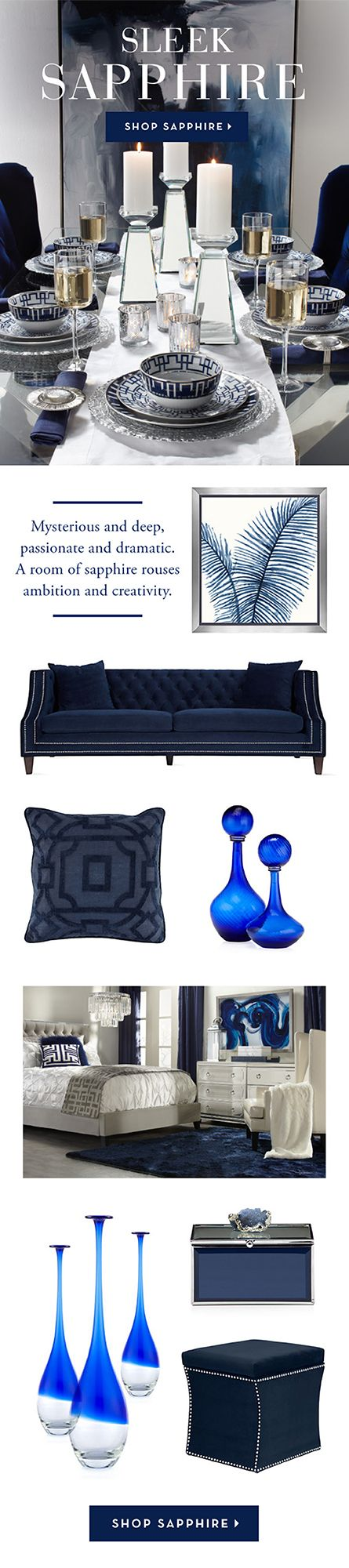 Holiday decor calls for jewel-toned hues in deep rich fabrics. Shop our Sapphire furniture & decor on zgallerie.com