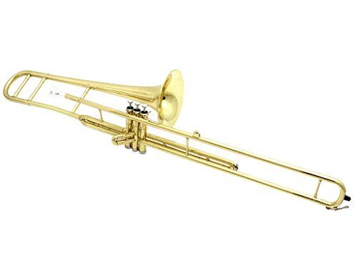D'Luca 710L 710 Series Brass Bb Valve Trombone with Professional Case, Cleaning Kit, Gold