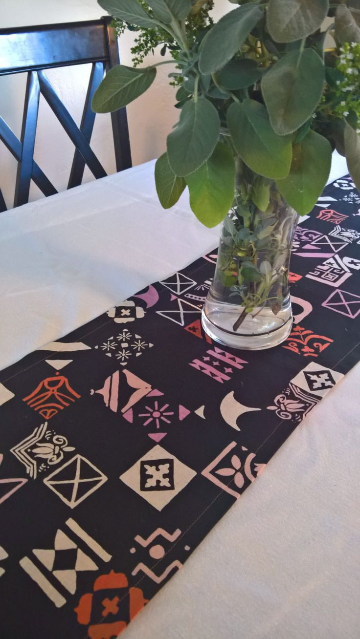 Bamboo black table runner 72 inches checkered kitchen linen dining - Black Table Runner Black And Pink Table Runner Black Modern Table Runner Black