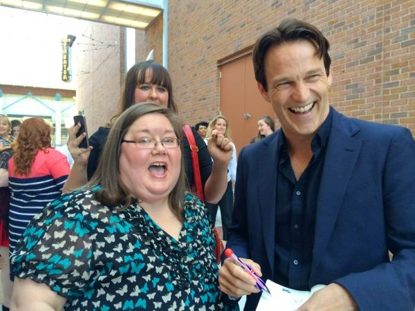 Stephen Moyer with fans at the Devil's Knot Premiere.