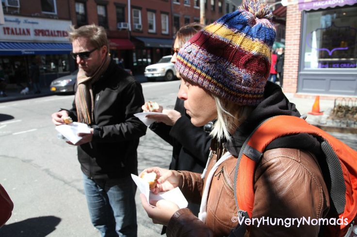 Food tour of new york - Marty loving the pizza