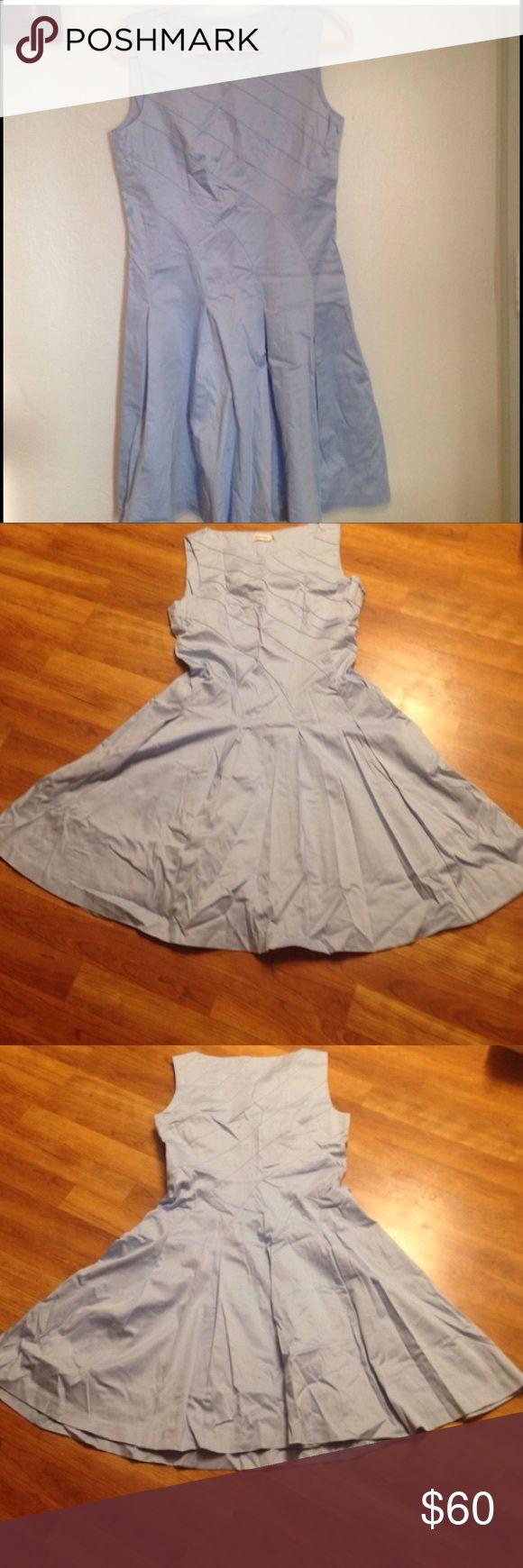 Calvin Klein winter baby blue sailor nautical Cute. just dry cleaned tea dress Calvin Klein Dresses