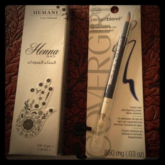 Black Henna tube/tip & Covergirl cobalt liner ☺️BRAND NEW!!!!😁Black Henna & Covergirl Cobalt water resistant liner/blender combo Covergirl Makeup Eyeliner