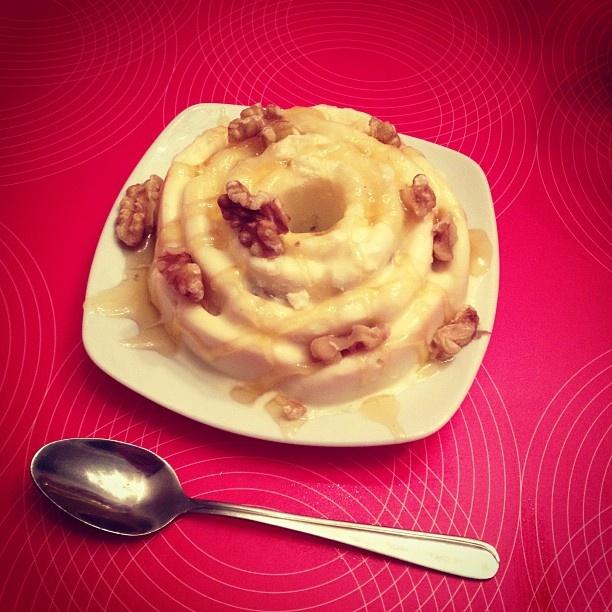 Parfait van Griekse yoghurt, walnoten & honing #mijneersteijstaartje
