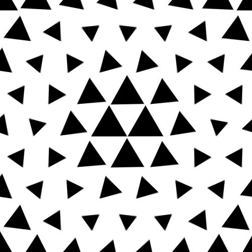 "GIF:  ""Negative Triangles"" - by Big Blue Boo/ Charlie Deck"