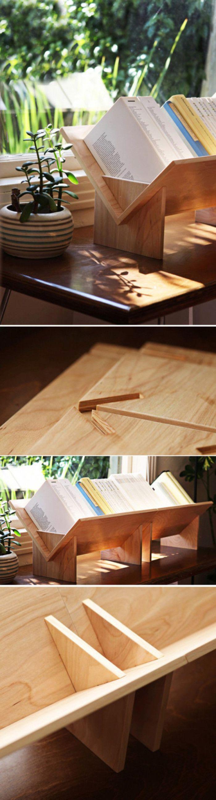 非常实用而且适合DIY的组合书架,使用桦木胶合板制作。