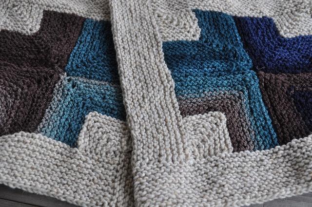Mitered Crosses Blanket--for Japan. version by rosekimknits on Ravelry