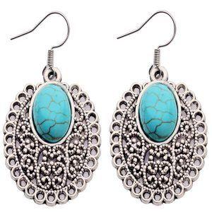 Kolczyki Retro Inka Turquoise 01