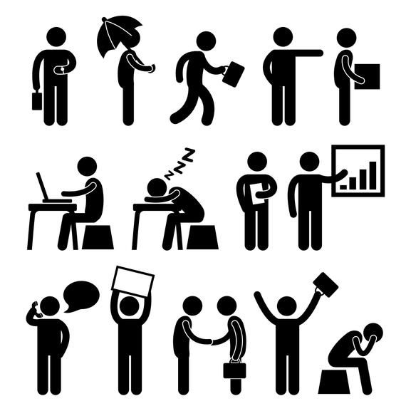 Businessman Business Stick Figures Stickman Office Worker Corporate Cooperation Handshake Deal Working People Icon Employee Png Svg Vector In 2021 Finance Business Finance Pictogram