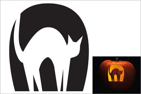 44 Spooky Cat Pumpkin Stencils you'll love carving this Halloween