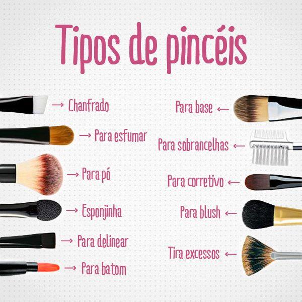 Tipos de pincéis para maquiagem