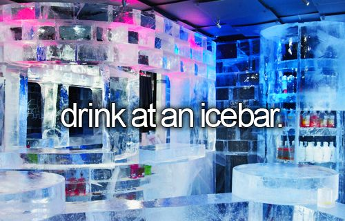 Drink at an Ice Bar