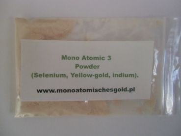 church-of-monoatomic-gold.org - Monoatomic 3 Powder: (1 gram) (Selenium, Yellow-Gold, Indium).