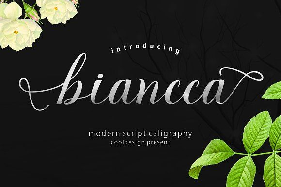 Biancca Script by cooldesignlab on @creativemarket
