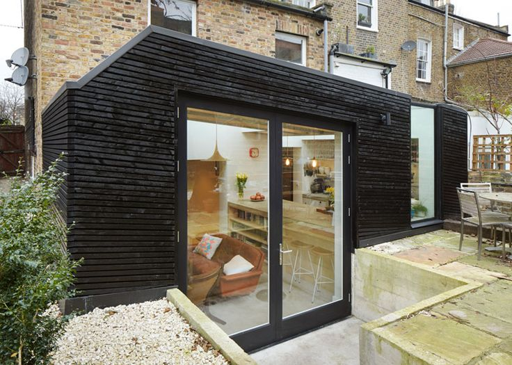 Fraher Architects' blackened timber extension for a keen cook