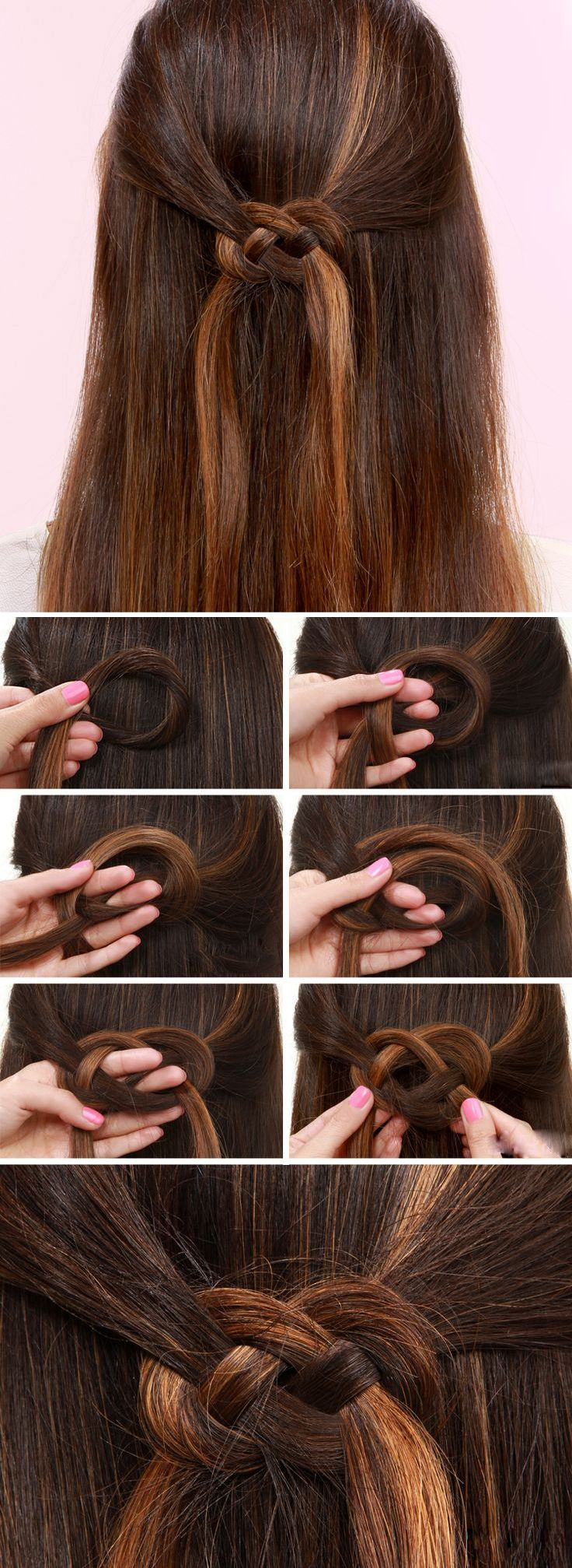 Do you want to have a beautiful bowknot hair? Maybe the single hair color is not enough, why do not add some gold color hair(using clip hair) and learn to fix your hair in this way? that must make your hair become more special and sweet!