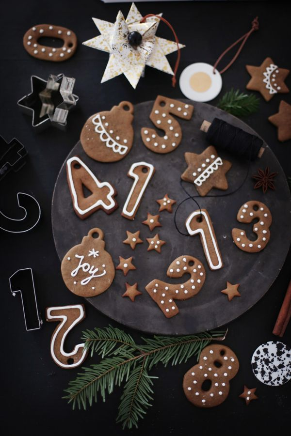 gingerbread numbers & gingerbread cupcakes with orange chocOlate mousse