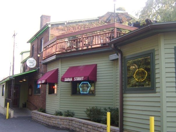 Outside of one of Downtown Stroudsburg's local restaurants! The Sarah Street Grill offers great food, live entertainment, and community spirit.     Photo Credit: Sarah Street Grill