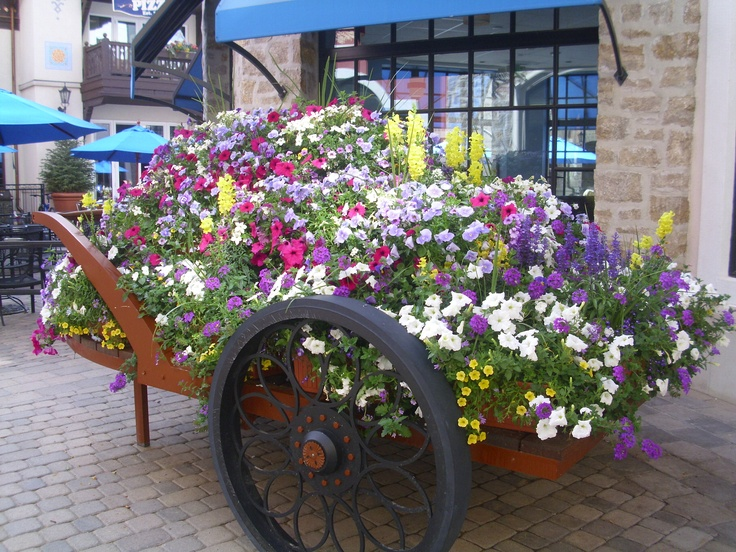 flower wagon in Vail.