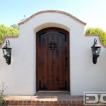 Custom Spanish Colonial Courtyard Gate in Orange County, CA | Custom handmade Spanish style entry gates in solid wood construction! - Yelp