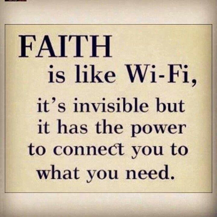 Building faith...