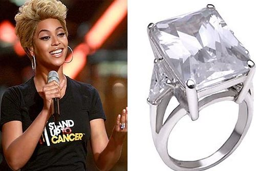 One of the world's most expensive engagement rings is Beyonce's. Price: $5,000,000