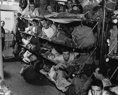 Living on a US Navy ship, sometime in 1943