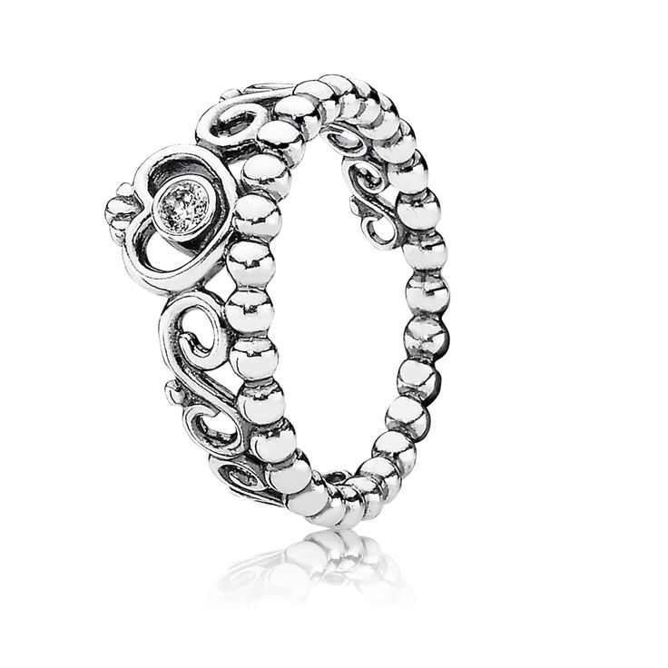 PANDORA | My Princess Stackable Ring, Clear CZ
